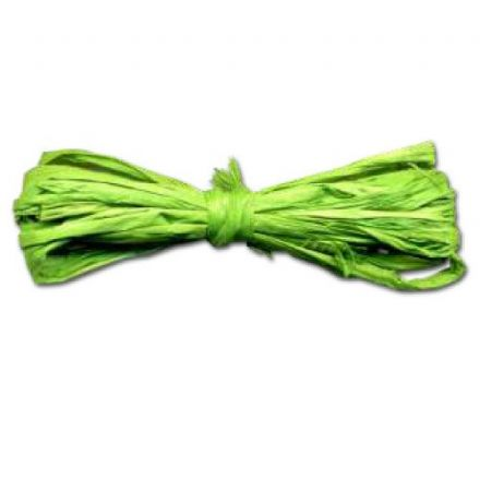 Rafia Yarn Material  40grams   Lime (22302)